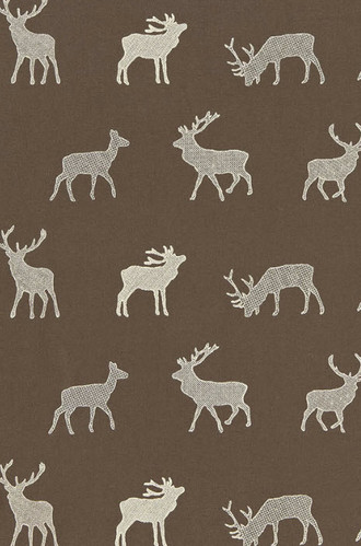 Caribou Embroidery Fabric in Java
