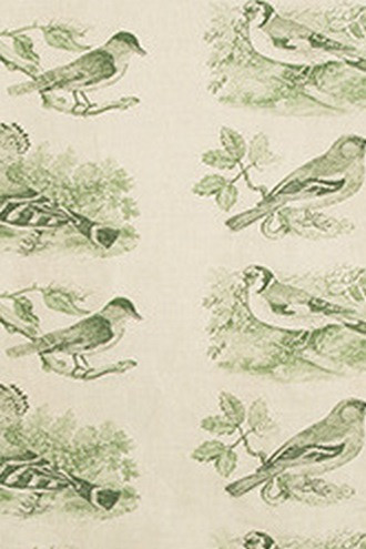 Sumter Toile Fabric in Hunter