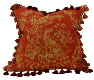 French Toile Dog Pillow