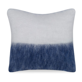Melanie Mohair Pillow in Ivory & Navy