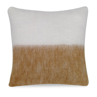 Melanie Mohair Pillow in Ivory and Natural