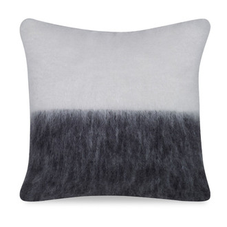 Melanie Mohair Pillow in Ivory & Black