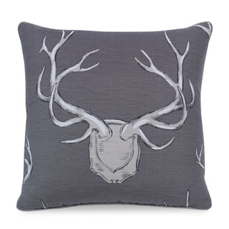Antlers Pillow in Grey