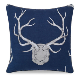 Antlers Pillow in Navy