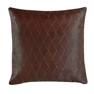 Athens Hair on Hide Pillow in Burgundy