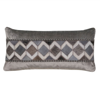Diamond Hide Pillow in Steel