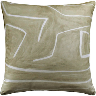 Graffito Pillow in Beige/Ivory
