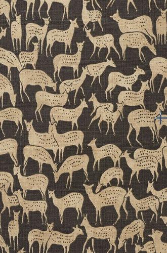 Fauna Fabric in Carbon