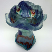 Legacy Handmade Glass Arts - Embeded Natural Colors - Antique  Decor - 057c