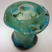 Legacy Handmade Glass Arts - Embeded Natural Colors - Antique  Decor - 062c