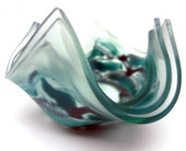 Legacy Handmade Glass Arts - Embeded Natural Colors - Antique  Decor - 092a