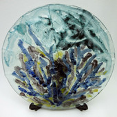 Legacy Handmade Glass Arts - Embeded Natural Colors - Antique  Decor - 122p