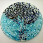 Legacy Handmade Glass Arts - Embeded Natural Colors - Antique  Decor - 123p