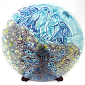 Legacy Handmade Glass Arts - Embeded Natural Colors - Antique  Decor - 133p