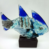 Legacy Handmade Glass Arts - Embeded Natural Colors - Antique  Decor - 018f