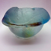 Legacy Handmade Glass Arts - Embeded Natural Colors - Antique  Decor - 097a