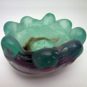 Legacy Handmade Glass Arts - Embeded Natural Colors - Antique  Decor - 098a