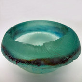 Legacy Handmade Glass Arts - Embeded Natural Colors - Antique  Decor - 114a