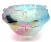Legacy Handmade Glass Arts - Embeded Natural Colors - Antique  Decor - 128a