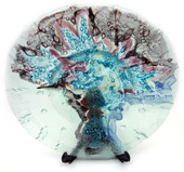 Legacy Handmade Glass Arts - Embeded Natural Colors - Antique  Decor - 174p