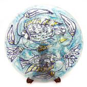 Legacy Handmade Glass Arts - Embeded Natural Colors - Antique  Decor - 185p