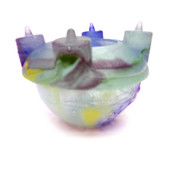 Legacy Handmade Glass Arts - Embeded Natural Colors - Antique  Decor - 200a