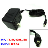 AC Adapter I/P 120V, 60Hz, 22W, O/P 16VAC, 1A, MW48-1601000A, 30-112-160609
