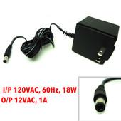 New AC Adapter, I/P 120VAC, 60Hz, 18W, Out/Put 12VAC, 1A, AA-121A