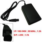 DVE Switching Power Supply, I/P: 100-240V , 50/60Hz , 1.2A O/P: +24V , 1.7A