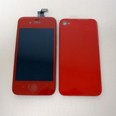 Color Apple iPhone 4 One Set LCD Display Screen and Back cover Beautiful Red