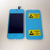 Color Apple iPhone 4 One Set LCD Display Screen and Back cover Light Blue