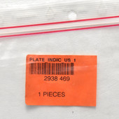 Oce 2938469 Plate INDIC GB US 1