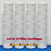 "{Lot of 19} String Wound Replacement Sediment Water Filter Cartridge, 12"" Length, 2.5"" OD"
