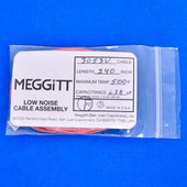 """Meggitt Endevco 3053V-240, 240"""" 500˚F Cap. 638 pF Low noise high impedance differential Cable Assembly"""
