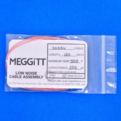 "Meggitt Endevco 3053V-120, 120"" 500˚F Cap. 325 pF Low noise high impedance differential Cable Assembly"