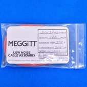 "Meggitt Endevco 3053VMI-120, 120"" 392˚F Cap. 305 pF Low noise high impedance differential Cable Assembly"