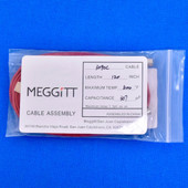 "Meggitt Endevco 3090C-120, 120"" 500˚F Cap. 307 pF Low Noise Coaxial Cable Assembly"