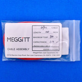 "Meggitt Endevco 3090C-120, 120"" 500˚F Cap. 310 pF Low Noise Coaxial Cable Assembly"