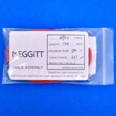 "Meggitt Endevco 3090C-120, 120"" 500˚F Cap. 311 pF Low Noise Coaxial Cable Assembly"