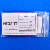 "Meggitt Endevco 3090C-120, 120"" 500˚F Cap. 314 pF Low Noise Coaxial Cable Assembly"