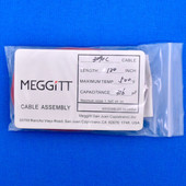 "Meggitt Endevco 3090C-120, 120"" 500˚F Cap. 316 pF Low Noise Coaxial Cable Assembly"