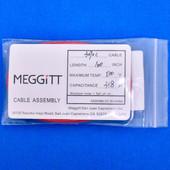 "Meggitt Endevco 3090C-120, 120"" 500˚F Cap. 318 pF Low Noise Coaxial Cable Assembly"
