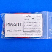 "Meggitt Endevco 3090C-120, 120"" 500˚F Cap. 322 pF Low Noise Coaxial Cable Assembly"