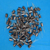 {100 pcs} 1uf 450V SE45DMIRDDKT9 Radial Lead Electrolytic Capacitors 105º Teapo Electronics