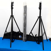 Limo Studio Photography Chroma Key Backdrop Lighting Expandable Stand {Lot of 2}