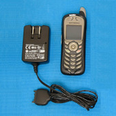 Motorola i415 Boost Mobile American Cellular Phone Black & AC/DC PS