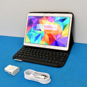 "Samsung Galaxy SM-T807V Tab S Verizon (Unlocked) 16 GB 10.5"" w/Logitech Keyboard"