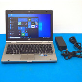 """HP EliteBook 2560p 12.1"""" i5-2410M 2.30GHz 8GB Ram 320GB HDD Win 10 Pro & Charger"""