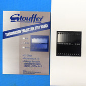 """Stouffer TP120-21, 21-step Transmission Projection Step Wedge 21/4""""x21/4"""""""