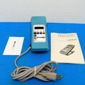 X-Rite 318 Color Densitometer with Manual and Calibration Reference.